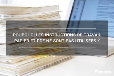 Instructions de travail papier