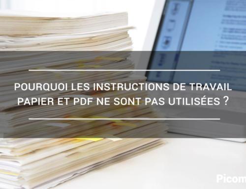 Pourquoi les instructions de travail papier et PDF ne sont pas utilisées ?