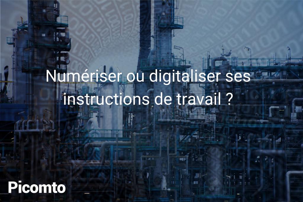 Numeriser Ou Digitaliser Ses Instructions De Travail Picomto